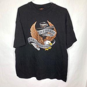 Harley-Davidson Ride To Live Single Stitch T-Shirt
